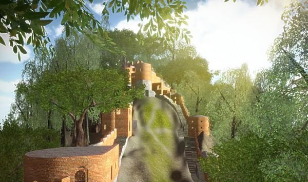 نرم افزار سه بعدی قلعه رود خان
