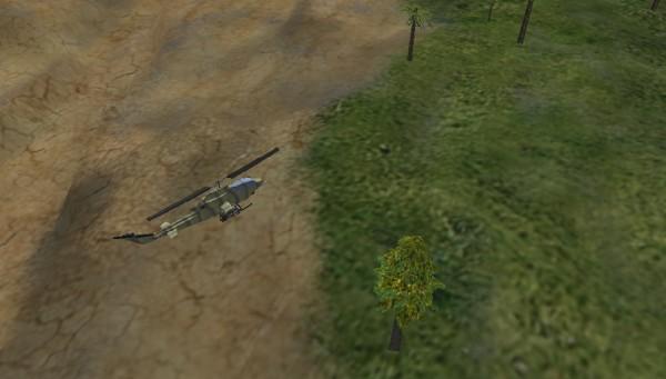 نمایی از تصویر قدیمی بازی هلیکوپتر